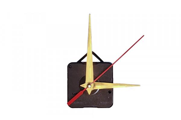 Механизм часовой с золотыми стрелками и подвесом