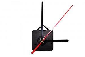 Часовой механизм со стрелками в виде вилки и ножа