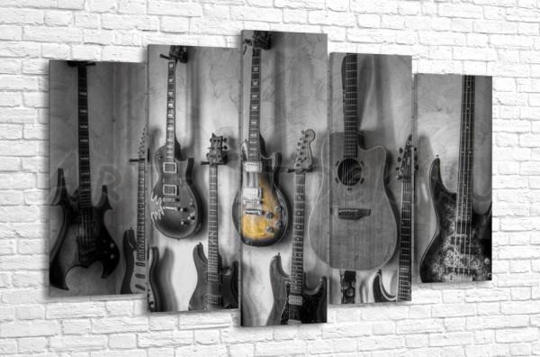 Гитары на стене