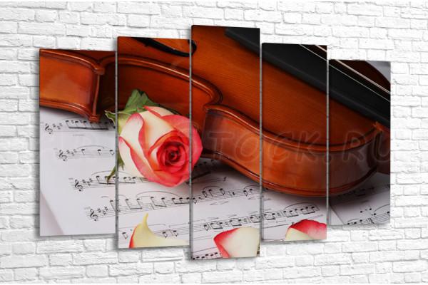 Роза и скрипка