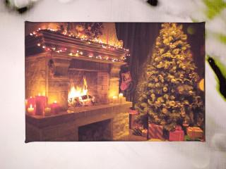 Рождество перед камином