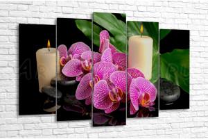 Орхидеи и свечи