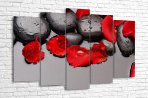 Спа и лепестки роз
